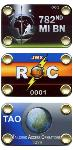 Full Color Metal Badge Tab with Logo and Numbering