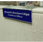 Bent Aluminum Cubicle Mount with Beveled Wall Sign