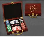 100 Chip Poker Set in Rosewood Box