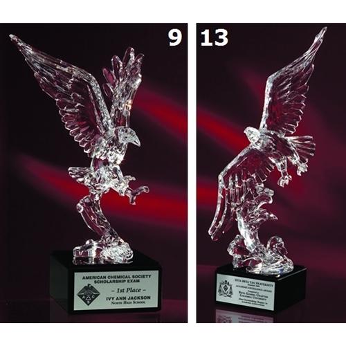 E-ACR Large Acrylic Eagle on Marble Base