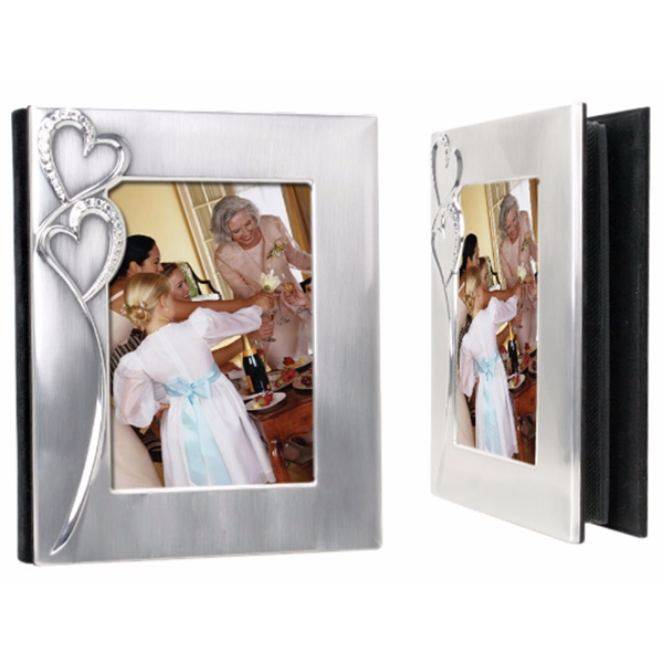 5 X 7 Silver Hearts Photo Album